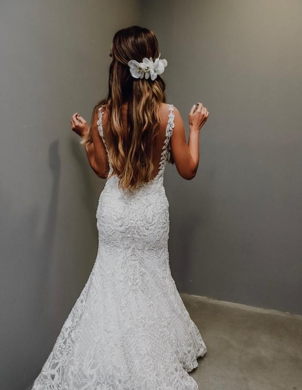 Look de Nicole Bahls para a festa de casamento (Foto: Giovani Garcia)