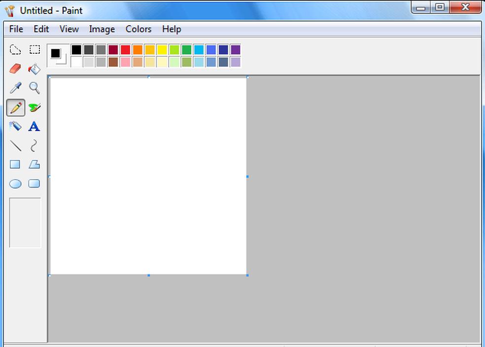 Paint no Windows 95 (Foto: Reprodução/Microfosft)