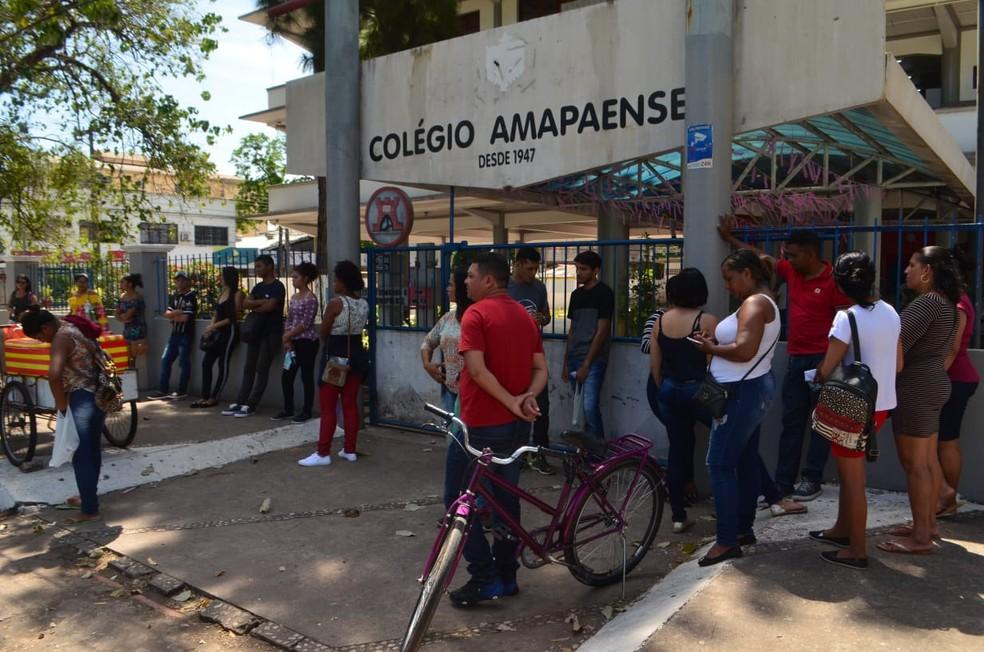Colégio Amapaense é um dos locais de prova no Amapá — Foto: Victor Vidigal/G1