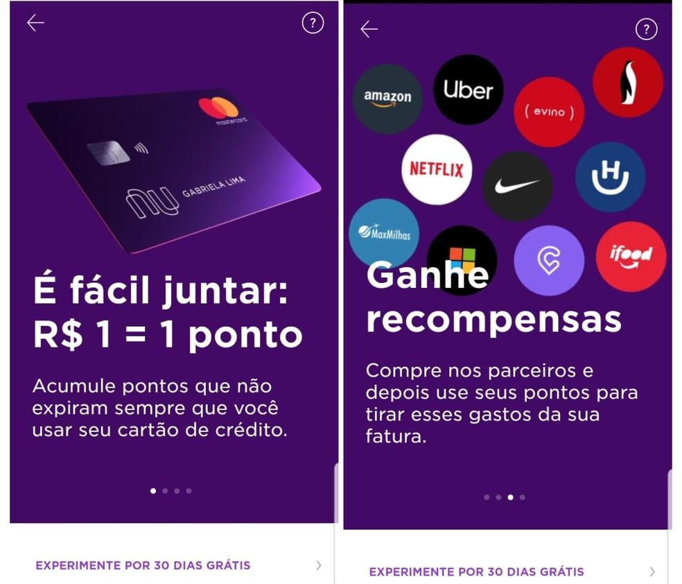 Nubank Rewards: cada R$ 1 gasto no cartão de crédito gera um ponto — Foto: Reprodução/Emanuel Reis