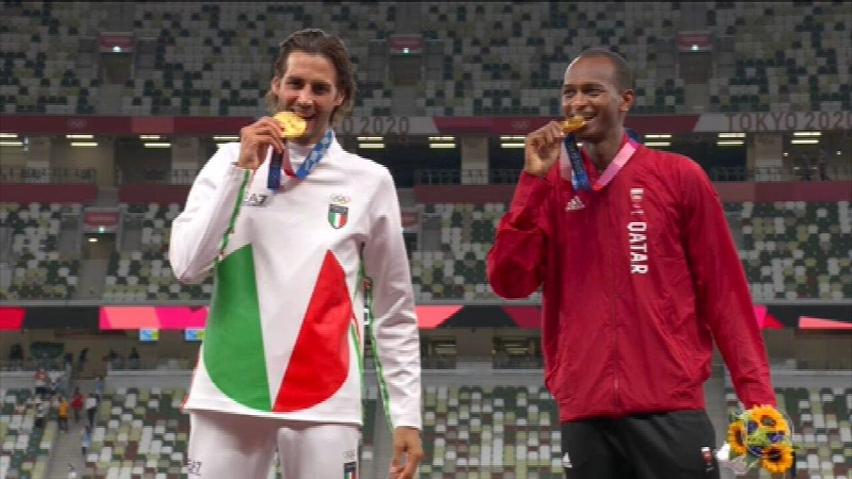 Pela 1ª vez em 113 anos, disputa pelo ouro de prova olímpica do atletismo termina em empate
