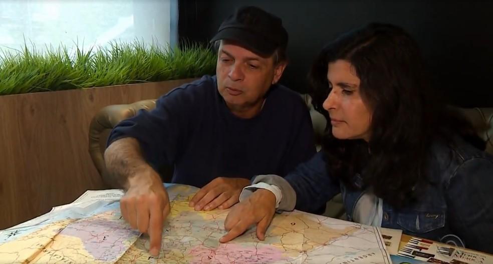 Marcos e Kátia Hoffmann conheceram as 497 cidades — Foto: Reprodução / RBS TV