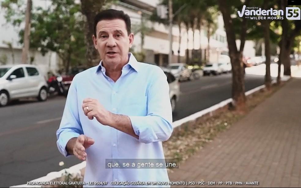 Vanderlan Cardoso PSD Goiânia, Goiás — Foto: Reprodução/TV Anhanguera