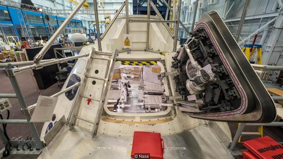 A Nasa já construiu maquetes para simular como será o interior da cápsula Orion (Foto: Nasa)
