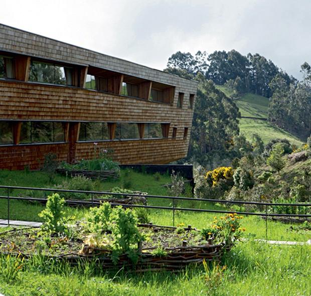 Lifestyle viagem Chile - Fachada do hotel Tierra de Chiloé (Foto: Carol Gherardi )