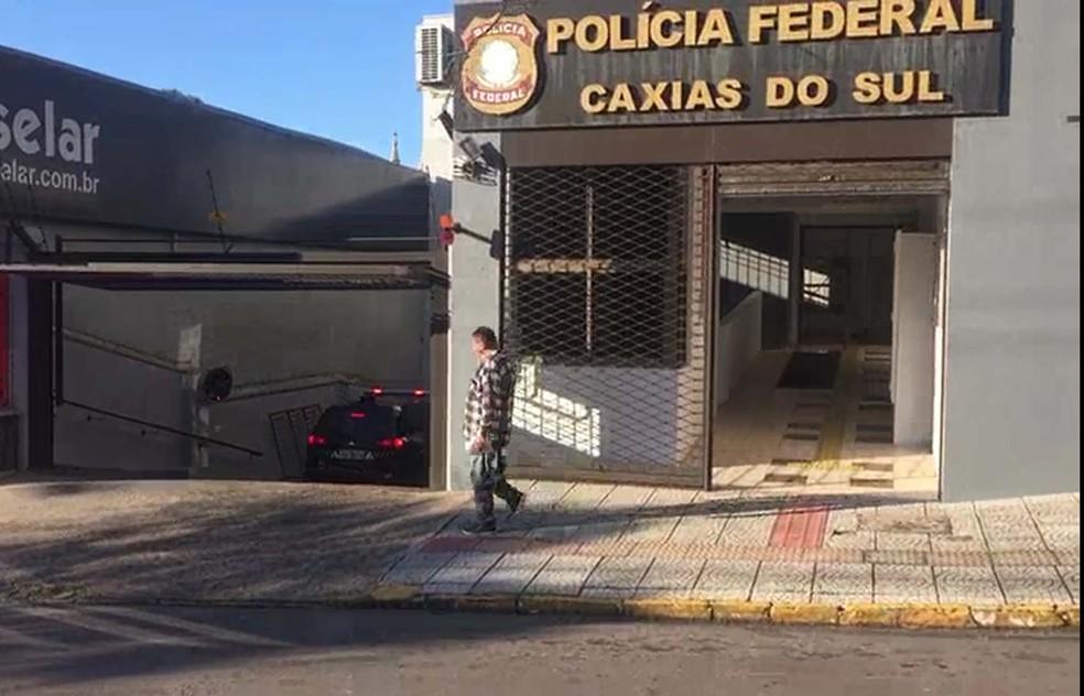 Viatura da Polícia Federal em Caxias do Sul — Foto: Reprodução/PF