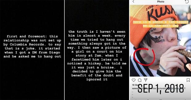 Noah Cyrus explica briga com rapper (Foto: Reprodução/Instagram)