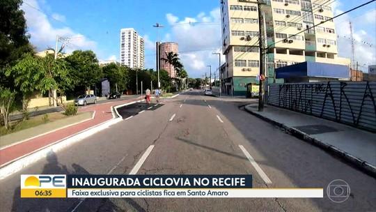 Nova ciclovia é inaugurada no bairro de Santo Amaro, no Recife