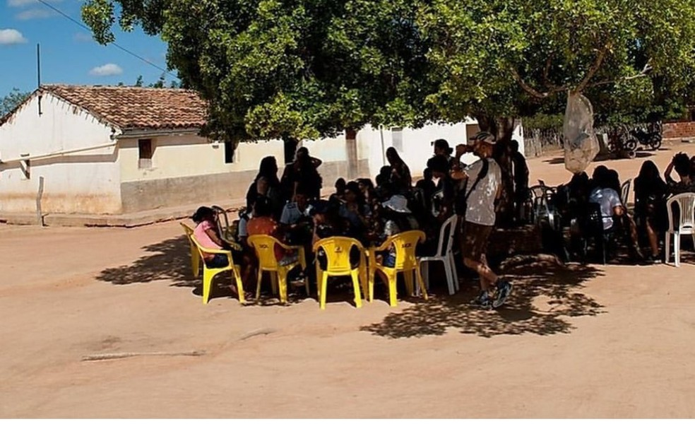 Comunidade quilombola lagoa das Emas, auxiliada pelo Projeto Veredas, em São Raimundo Nonato no PI — Foto: Divulgação Projeto Veredas