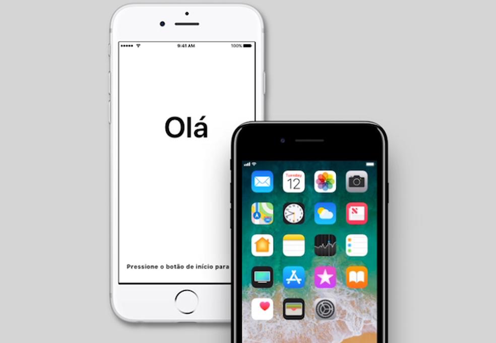 b01800cfc ... Saiba como configurar um novo iPhone com o iOS 11 — Foto   Divulgação Apple
