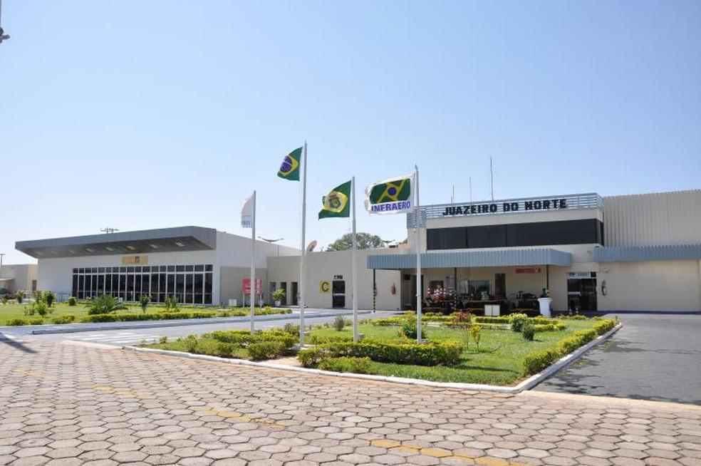 Aeroporto de Juazeiro do Norte atende também a população do noroeste de Pernambuco, do alto Sertão da Paraíba e Sudoeste do Piauí (Foto: Infraero/Divulgação)