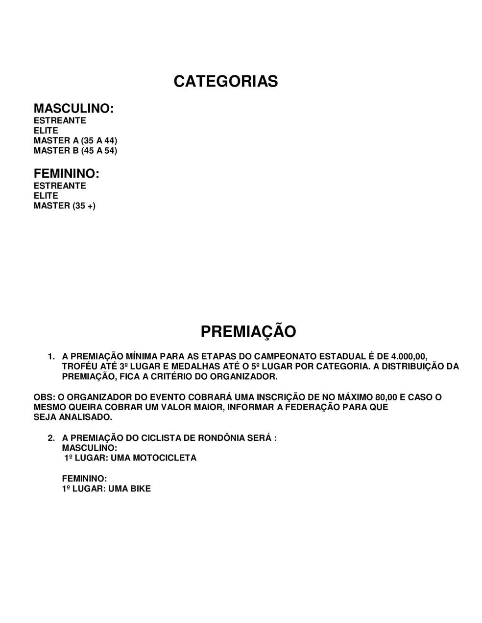 A Federação de Cisclismo de Rondônia (FECRO) lançou calendário para 2021  (Foto: Divulgação)