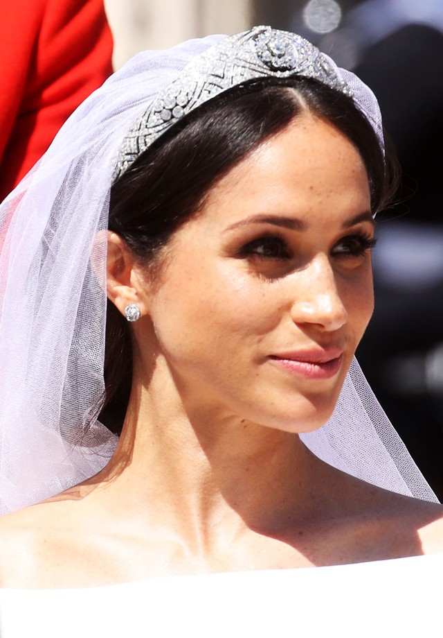 WINDSOR, ENGLAND - MAY 19:  The Duchess of Sussex departs after her wedding to Prince Harry, Duke of Sussex at St George's Chapel, Windsor Castle on May 19, 2018 in Windsor, England.  (Photo by Chris Jackson/Getty Images) (Foto: Getty Images)
