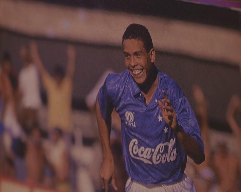 Ronaldo também teve início avassalador pelo Cruzeiro — Foto: Acervo/Cruzeiro