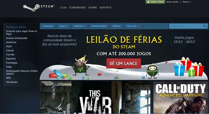 Games no Steam: ótimas opções de presentes (Foto: Reprodução)