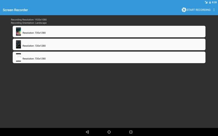 Apesar de simples e com poucos recursos, Lollipop Screen Recording é um dos aplicativos disponíveis para gravação de tela no Android 5.0 (Foto: Reprodução)