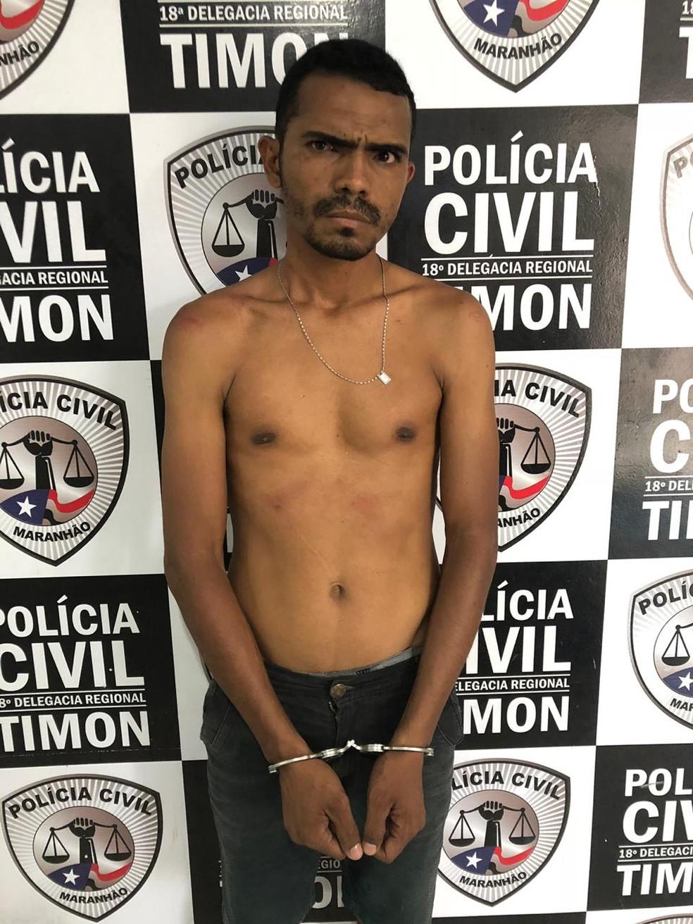 Antônio Sousa Cruz foi preso por ter agredido a sua esposa em Caxias — Foto: Divulgação/Polícia Civil