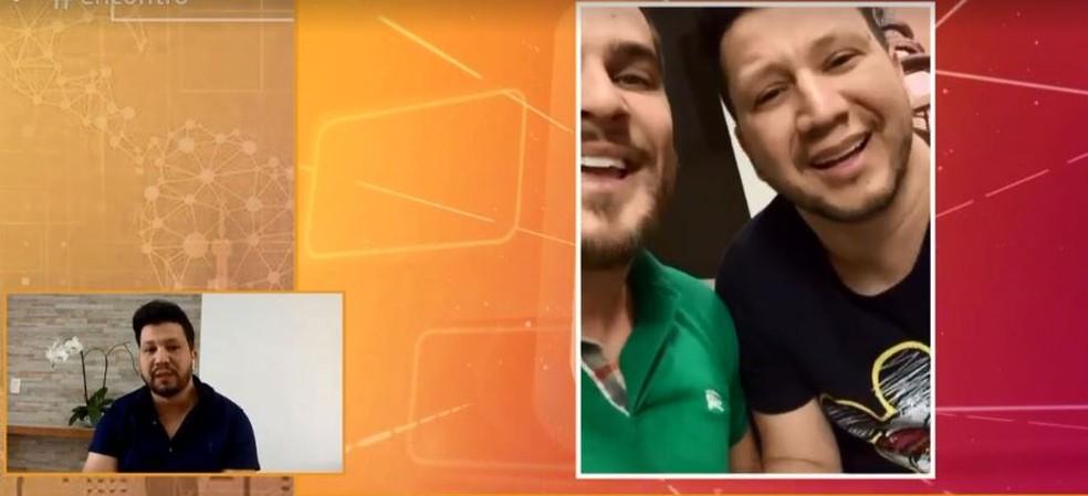 Cleber faz dupla sertaneja com o cantor Cauan, internado em Goiás por causa de complicações do novo coronavírus — Foto: Globo