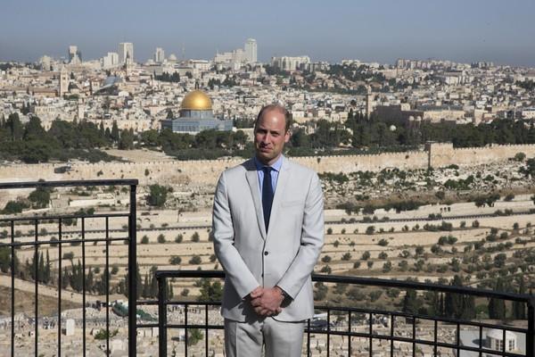 O Príncipe William durante sua viagem a Jerusalém (Foto: Getty Images)
