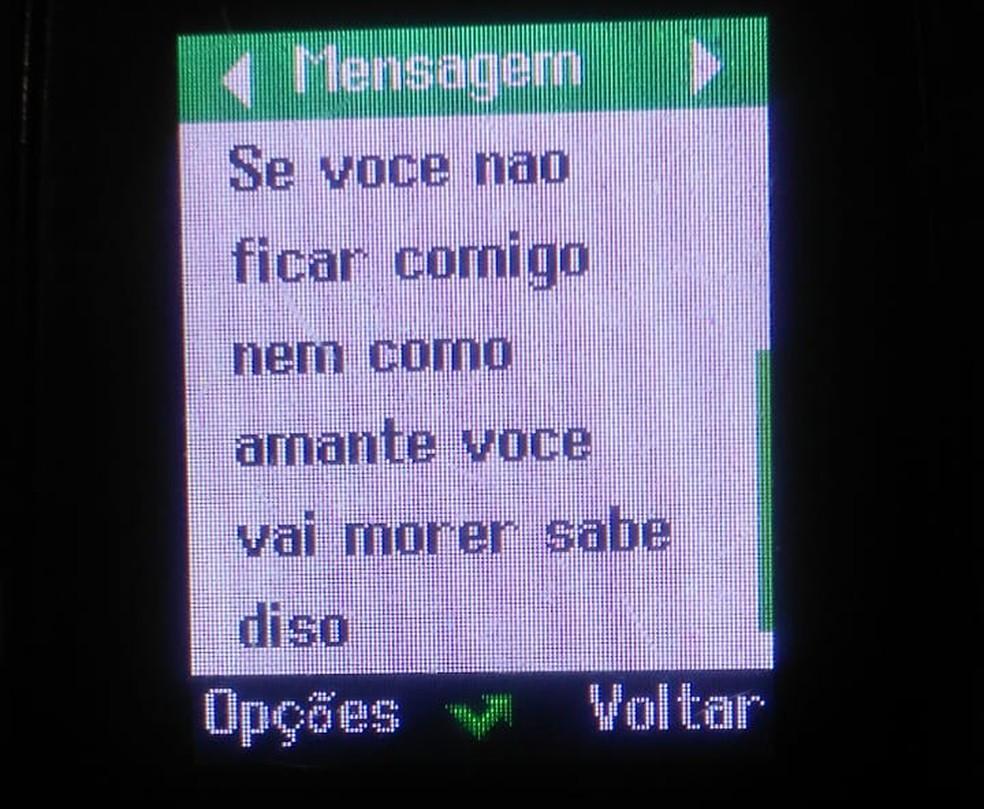 Polícia divulgou trechos de ameaças que ex-marido fez à mulher em Cuiabá — Foto: Polícia Civil de Mato Grosso/Assessoria
