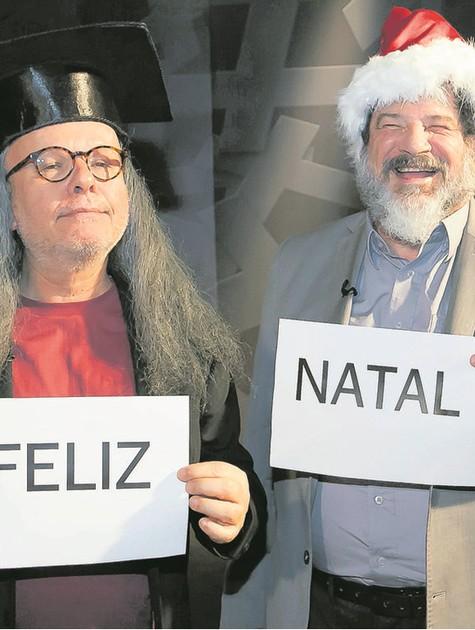 Marcelo Tas recebe o filósofo Mario Sergio Cortella (Foto: Divulgação)