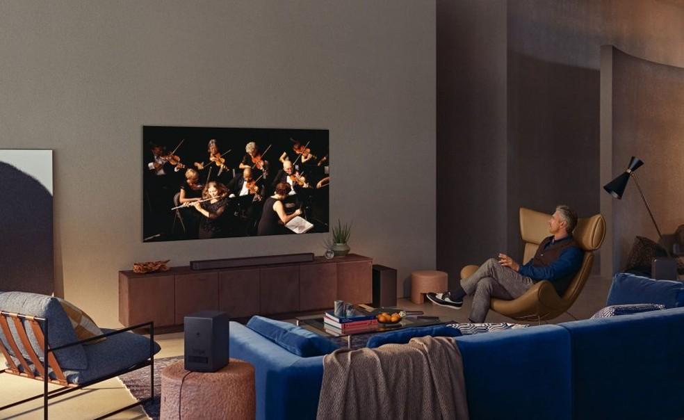 A TV Neo QLED Lifestyle da Samsung — Foto: Divulgação