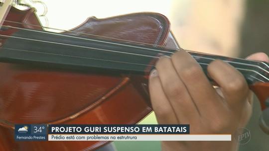 Problemas estruturais em imóvel histórico suspendem aulas do Projeto Guri em Batatais, SP