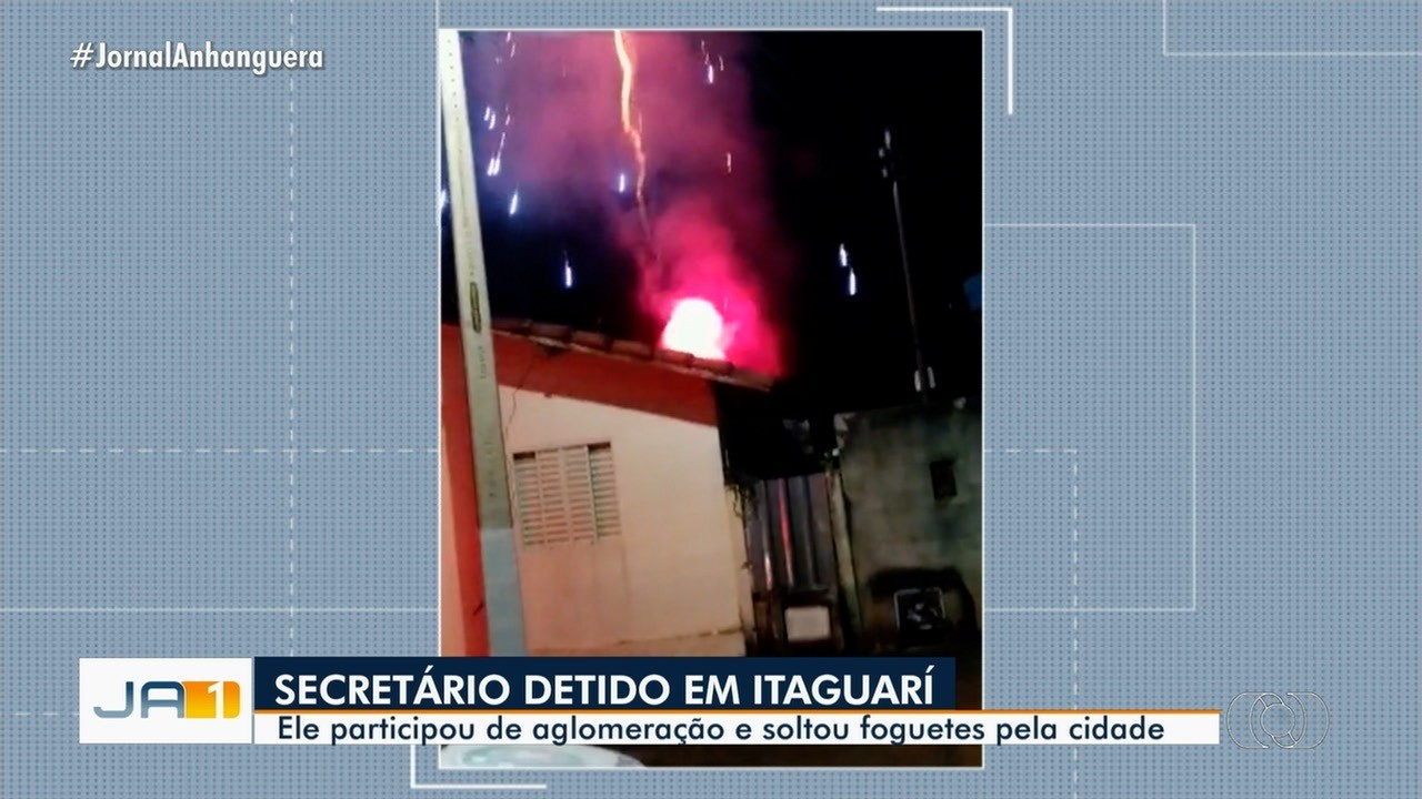 Secretário de administração de Itaguari é detido em festa com fogos de artíficio