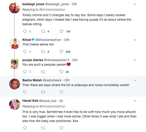 As respostas enviadas pelo fãs de Khloé Kardashian (Foto: Twitter)