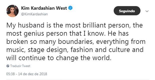 Kim Kardashian defende Kanye West nas redes sociais (Foto: reprodução)