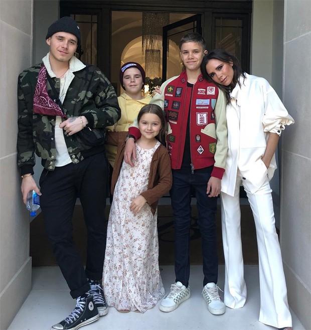 Brooklyn, Cruz, Harper, Romeo e Victoria Beckham (Foto: Reprodução/Instagram)