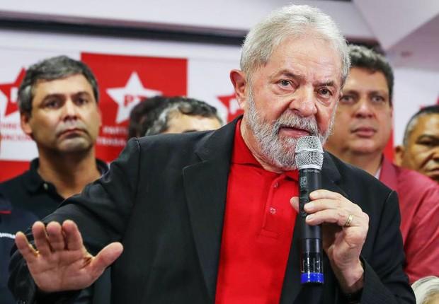 O ex-presidente Luiz Inácio Lula da Silva na sede do PT (Foto: Lula Marques/AGPT)