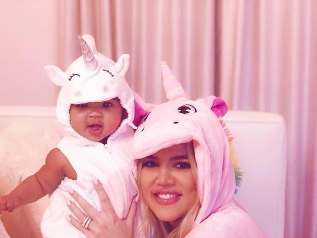 Khloe Kardashian e sua filha True (Foto: Instagram/Reprodução)