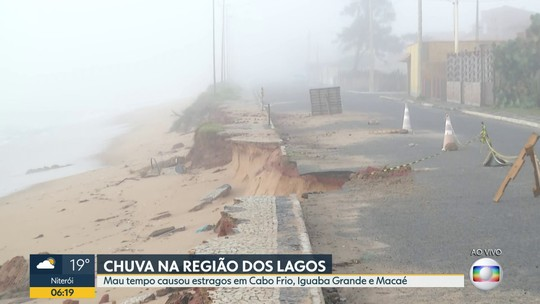 Chuva causou estragos na Região dos Lagos