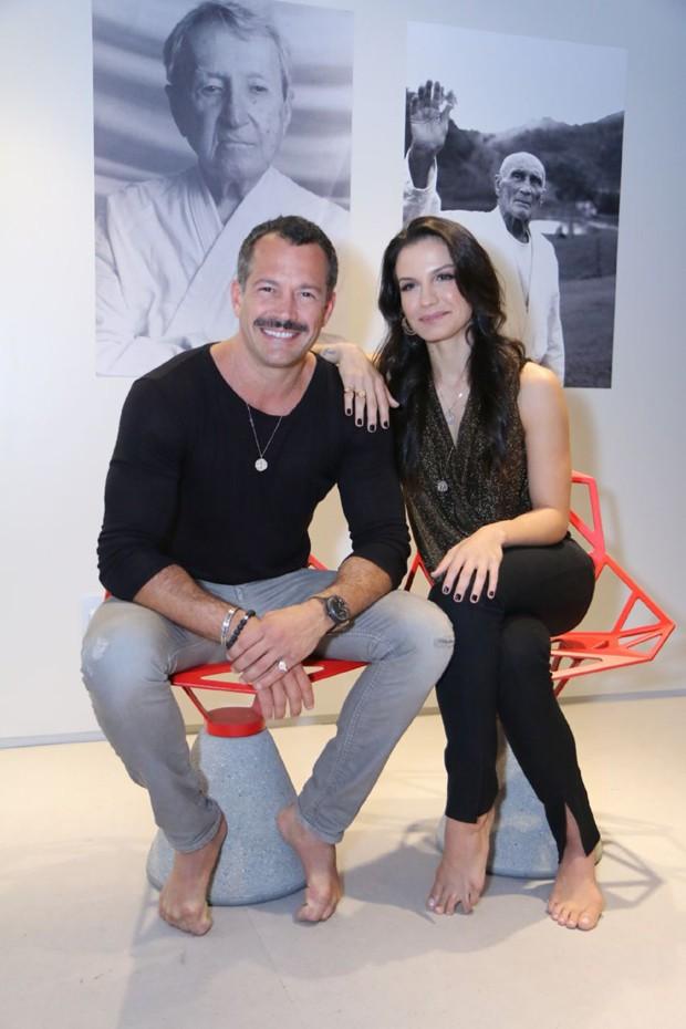 Malvino Salvador e Kyra Gracie (Foto: Daniel Pinheiro/AgNews)