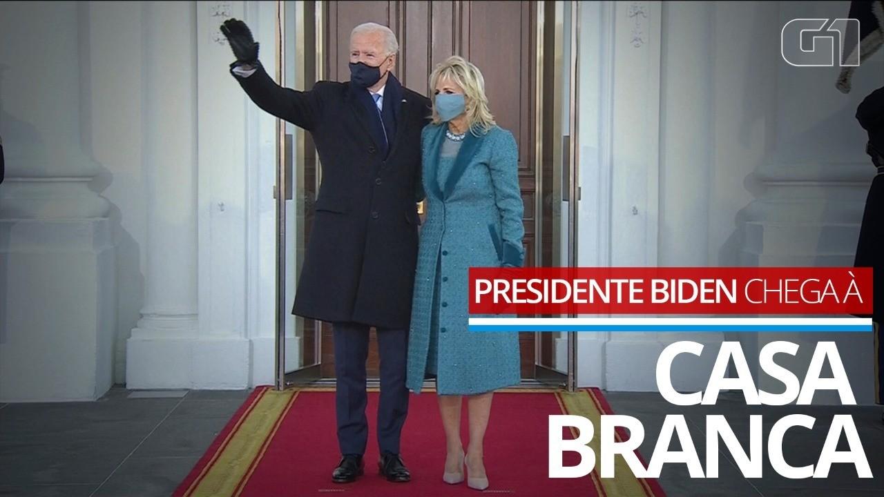 VÍDEO: Joe Biden chega à Casa Branca como presidente pela primeira vez