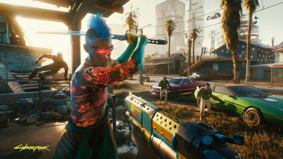 Cyberpunk 2077 está disponível para PS4 na PlayStation Store — Foto: Divulgação/CD Projekt Red