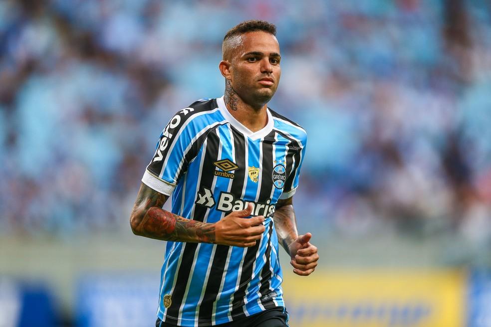 Luan voltou com boa atuação contra o Juventude — Foto: Lucas Uebel/Grêmio