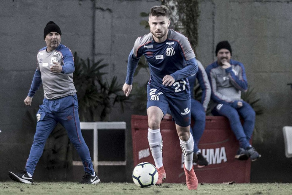 Eduardo Sasha treina no Santos  — Foto: Ivan Storti/Santos FC