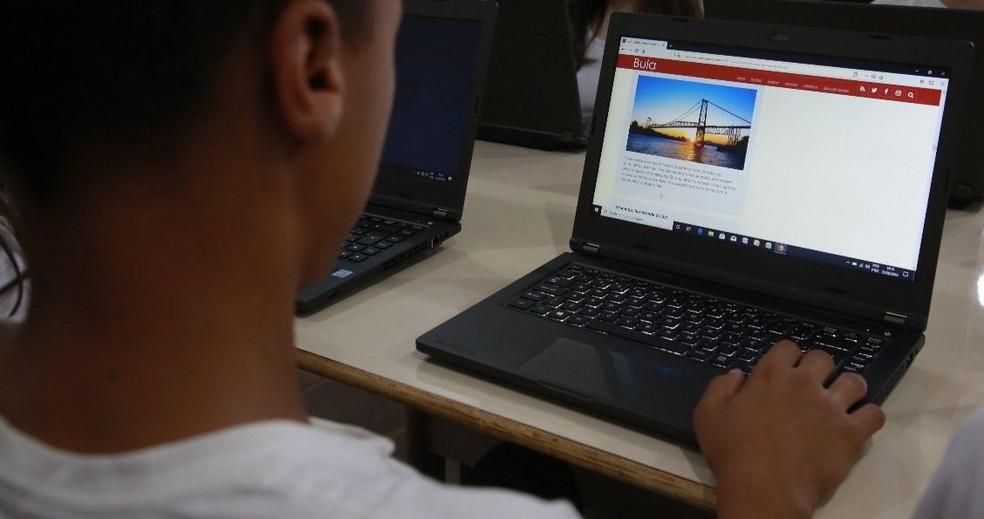 Secretaria de Educação disponibiliza atividades online e preparação durante a quarentena — Foto: Julio Cavalheiro/Governo do Estado de Santa Catarina