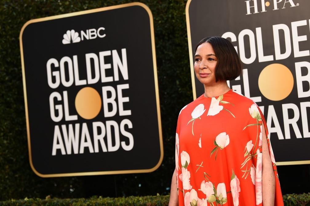 Maya Rudolph no Globo de Ouro 2021 — Foto: Reprodução/Twitter/GoldenGlobe