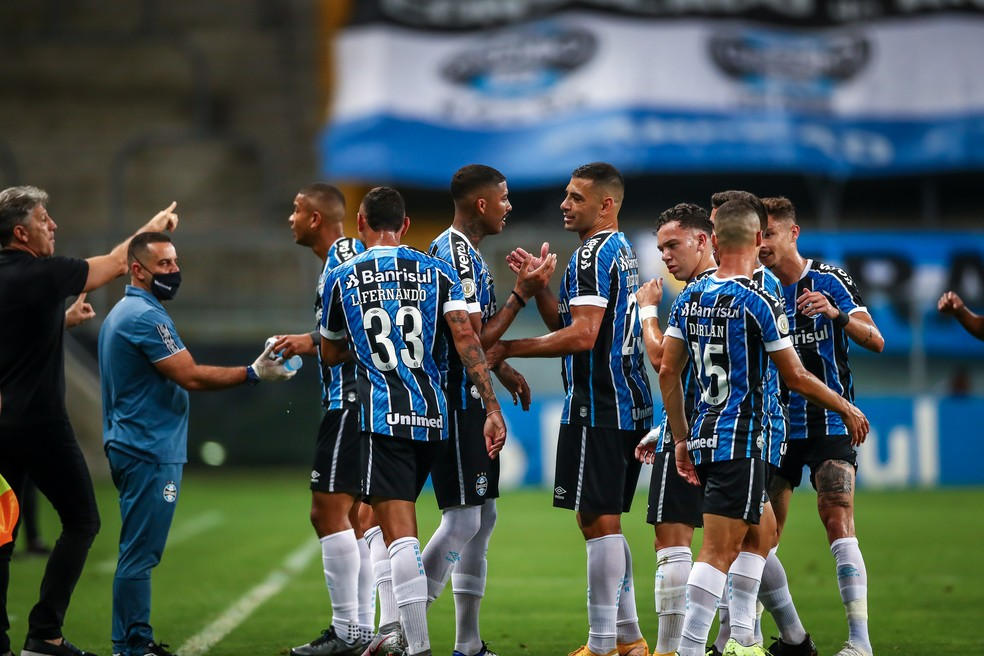 Grêmio vence o Ceará e chega a sete vitórias seguidas em 2020 — Foto: Lucas Uebel/DVG/Grêmio