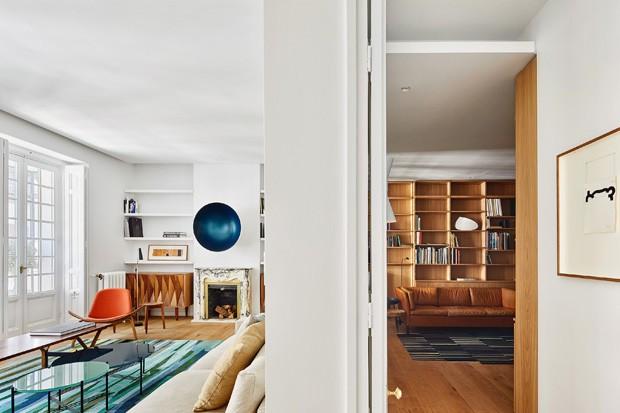 Reforma amplia ambientes em apartamento de 220 m²  (Foto: José Hevia/ Divulgação)