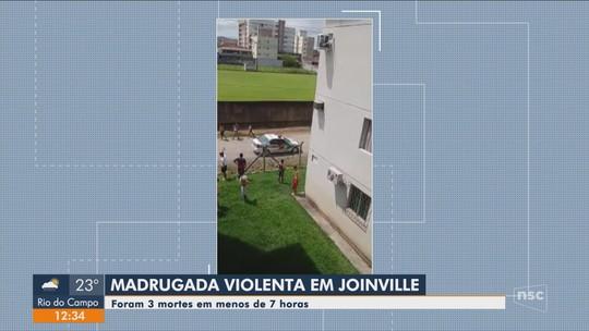 Polícia registra três mortes violentas em Joinville em menos de 7 horas