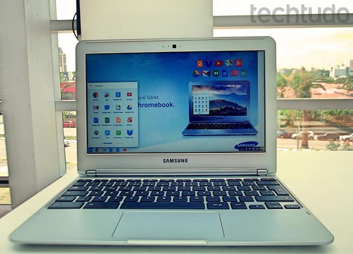Chromebook da Samsung fabricado no Brasil tem design bonito e construção bem acabada (Foto: Paulo Alves/TechTudo)
