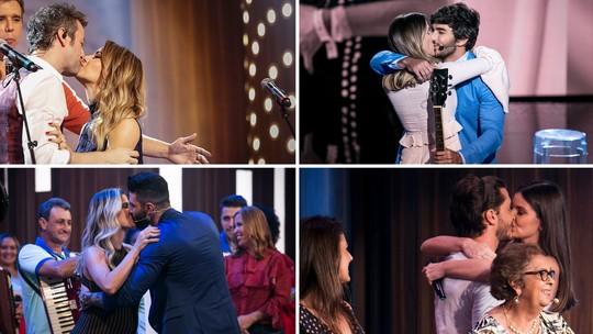 'Dia dos Namorados': reveja os beijos mais apaixonados do 'Tamanho Família'