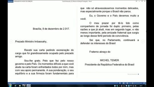 Ministro Antonio Imbassahy pede para sair do governo, e Temer aceita