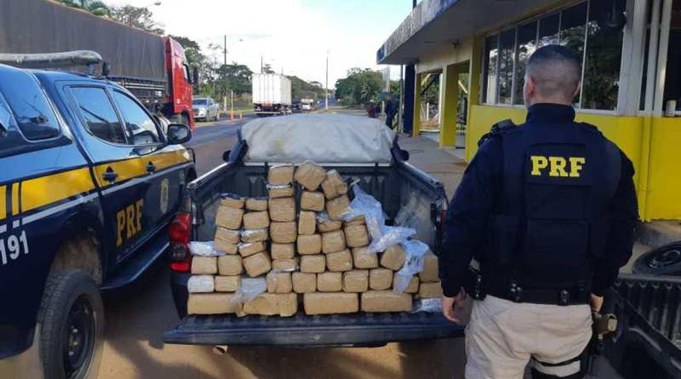 Drogas apreendidas pela PRF em RO — Foto: PRF/Divulgação