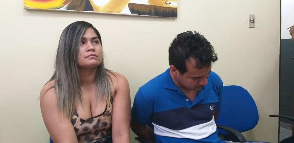 -  Casal suspeito de exercício ilegal da medicina e estupro de vulnerável, em Monte Alegre, no PA  Foto: Polícia Civil/Divulgação