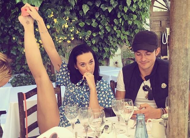 Katy Perry e Orlando Bloom (Foto: Reprodução/Instagram)